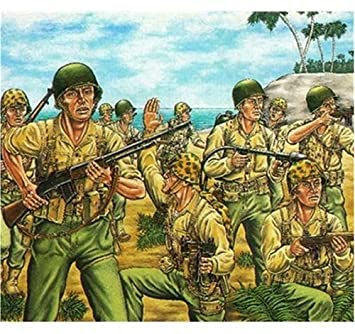 Buy Wwii Us Marines Pacific Front Figures (50) 1/72 Revell Germany ...