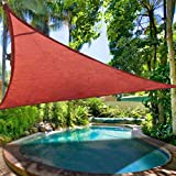 "2nd Generation 12 X 12 X 12"" Sun Shade Sail Uv Top Outdoor Canopy Patio Lawn Triangle Rust Red"