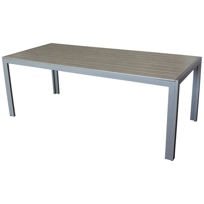 Großer Aluminium-Polywood Gartentisch 205x90x74cm Esstisch Esszimmertisch Beistelltisch Wohnmöbel Gartenmöbel Terrassenmöbel günstig kaufen