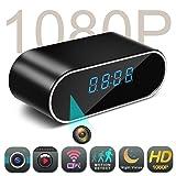HD 1080P Wifi Hidden Camera Alarm Clock Night Vision/Motion Detection/Loop Recording Home Surveillance Spy Cameras (Color: Black)