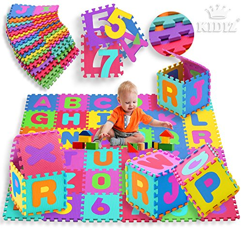 KIDIZ-Spielmatte-86tlg-Spielteppich-Puzzlematte-Kinderteppich-Matte-Schutzmatte