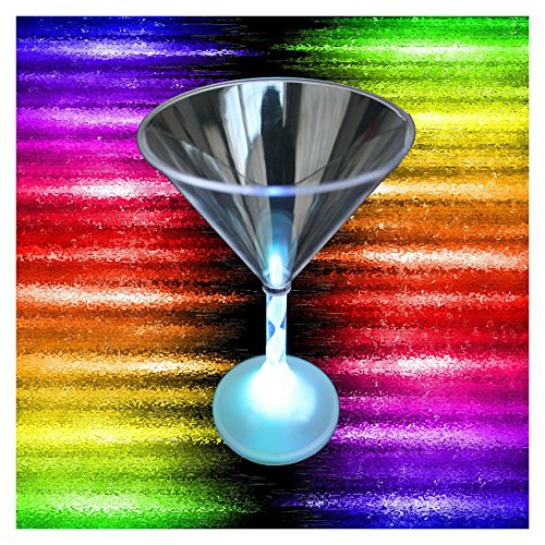 [Light Up BLINKING MARTINI COCKTAIL GLASS Color Flashing Bar Party Drink-trending online] (Martini Costume Halloween)