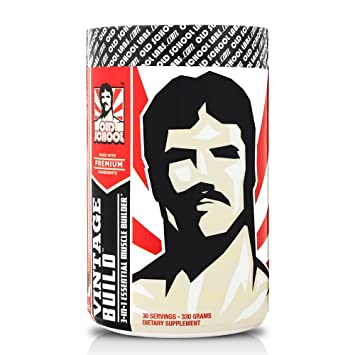 VINTAGE BUILD - The Essential 3-in-1 Muscle Builder - Premium BCAAs, Creatine Monohydrate, and L-Glutamine (Fresh Berries), 330 Grams, 30 Servings