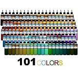 Intenze Tattoo Inks 101 Color Tattoo Ink Set - 1oz Bottles