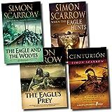 Simon Scarrow Simon Scarrow 4 books set collection, the eagle hunts, eagle and the wolves etc