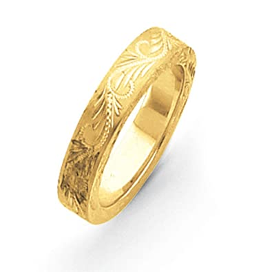 14ct Gold fancy wedding Band Ring - Ring Size Options Range: J to X