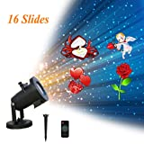 Christmas Projector Lights Outdoor, Holiday Projector Lights for Christmas, Halloween, Birthday, Parties, Valentines Day, 16 Patterns (Color: 16 Patterns, Tamaño: 16 Patterns)
