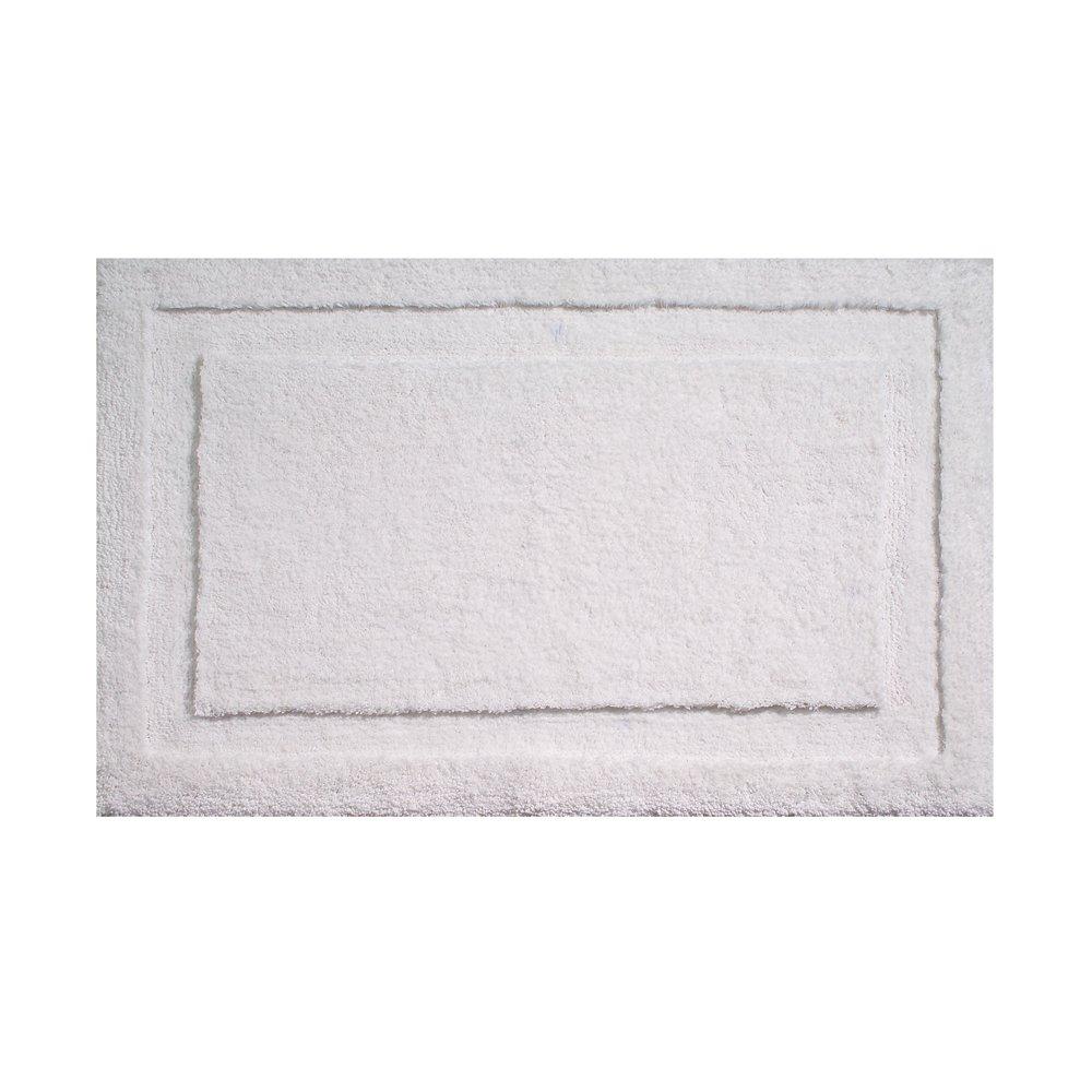 Interdesign microfiber spa bath rug 34 x 21 inch white for International decor bath rugs