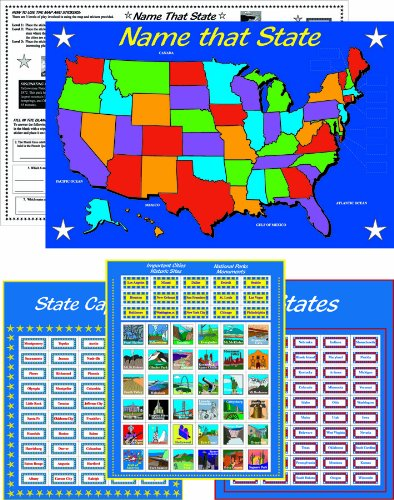 Eureka Learning Playground, States & Capitals Sticker Activity Kit, 11 By 17 Inches (480620) front-726218