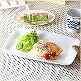 シンプルスクエアプレート 31.5cm フレンチ イタリアン 角皿 パスタ皿 白い食器 カフェ食器 国産 美濃焼
