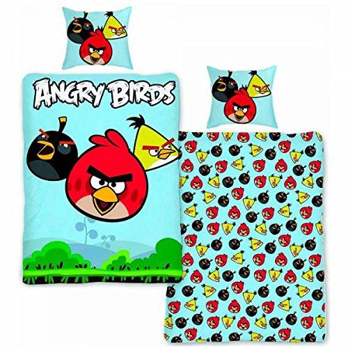 Housse de Couette + Taie d'oreiller - Angry Birds