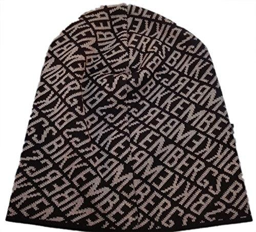 Cuffia Uomo Bikkembergs HAt berretto cappello In lana Invernale Nero beige