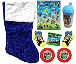 Paw Patrol Holiday Christmas Stocking Gift Bundle (8 Pieces)