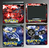 Pokemon Pokeball Pikachu Black and White 2 X Y Xerneas Yveltal Cartoon Movie Toy Video Game Vinyl Decal Cover Skin Protector for Nintendo GBA SP Gameboy Advance Game Boy
