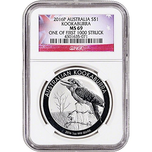 2016 AU Australia Silver (1 oz) Kookaburra One of First 1000 Struck $1 MS69 NGC