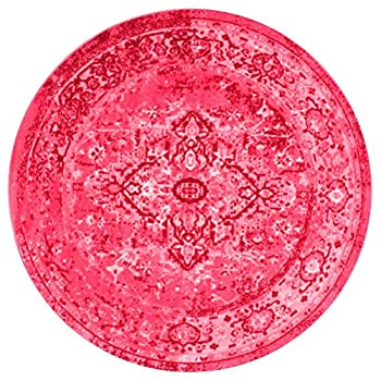 nuLOOM Traditional Printed Persian Overdyed Vintage Pink Area Rugs, 5, Pink