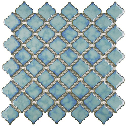 Tinge Marine 12 3/8 x 12 1/2 Inch Porcelain Floor and Wall Tile (10 Pcs/10.7 Sq. Ft. Per Case)