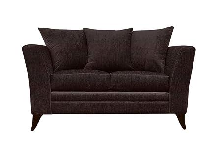 Essex 2 asiento de sofá marrón de la tela
