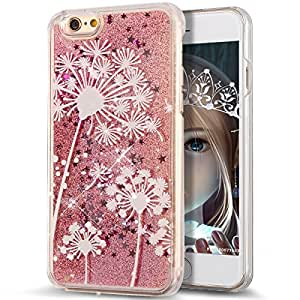 iPhone 6S Case,NSSTAR iPhone 6S Liquid Case,Case for iPhone 6S,Creative Design Flowing Liquid Floating Luxury Bling Glitter Sparkle Stars Hard Case Apple iPhone 6S (2015) & iPhone 6 (2014),A7