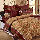 Story@Home Candy 120 TC Double Bedsheet With 2 Pillow Covers, Brown