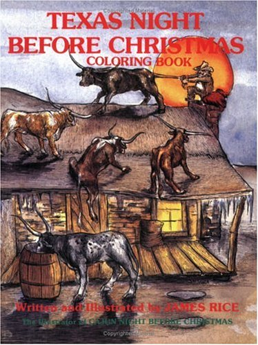 Texas Night Before Christmas Coloring Book (The Night Before Christmas Series)