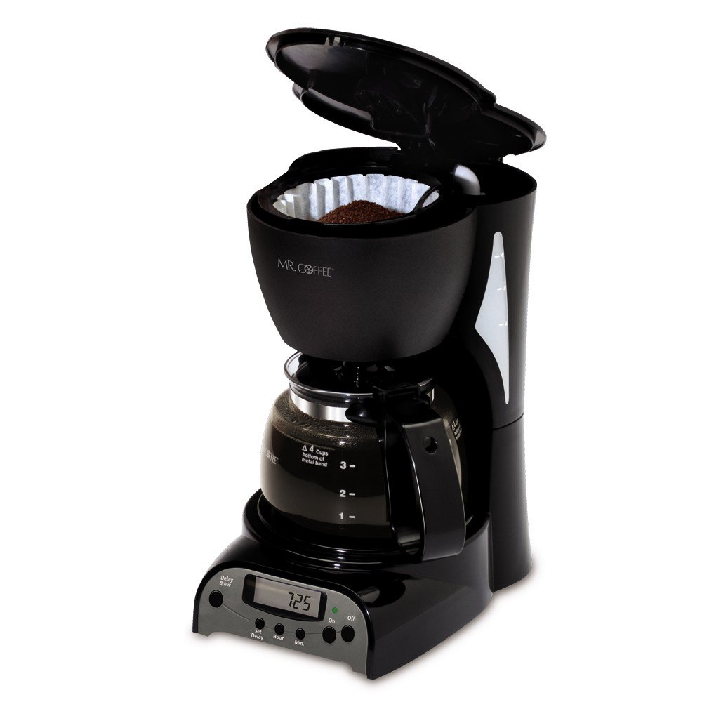 4 Cup Coffee Maker Auto Shut Off : Mr Coffee DRX5 4-Cup Programmable Coffeemaker Coffee Maker Brewer Espresso Black 72179228134 eBay