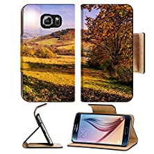 buy Msd Samsung Galaxy S6 Flip Pu Leather Wallet Case Autumn Landscape Forest On A Hillside Covered With Red And Yellow Leaves Image 23987338