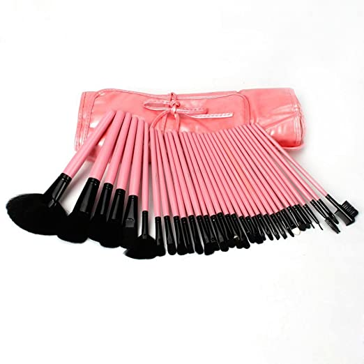 32pcs Professional Cosmetic Makeup Make up Brush Brushes Set with Pink Bag Case