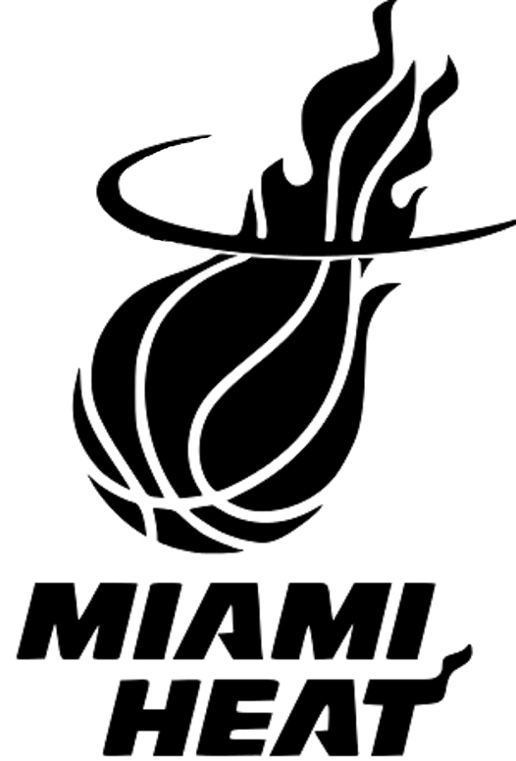 the gallery for gt miami heat black and white logo