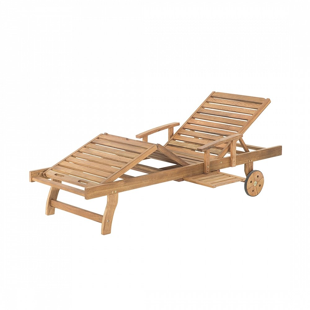 Gartenliege aus White Balau – Holzliege – Liegestuhl – Sonnenliege -JAVA bestellen