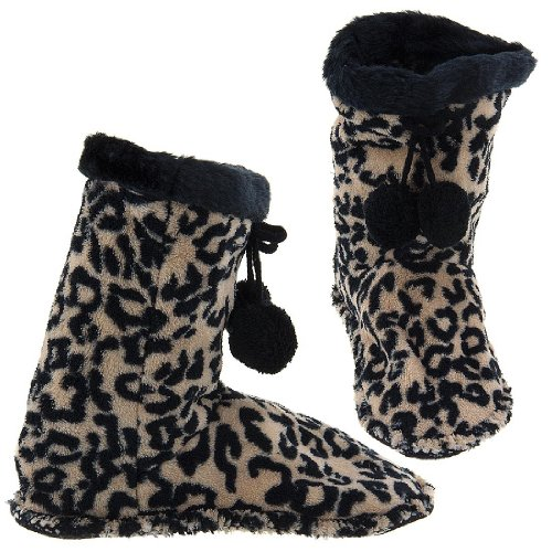 Image of GMI Snuggle Feet Cheetah Slippers for Women (B009TH216G)