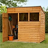 7x5 Shed Republic Value Overlap Premium Pent Wooden Shed