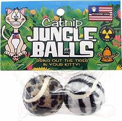 Pet Sport USA Catnip Jungle Balls Cat Toy, 2 Pack