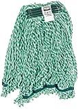 "Rubbermaid Commercial FGA81206GR00 Web Foot Microfiber String Mop, 1"" Size, Medium,Green (Case of 6)"