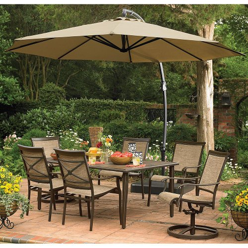 Cute  Detail shop Garden Oasis Replacement Canopy for Ft Round Offset Umbrella Steel w Sand Base This High Quality Umbrella is the Perfect Addition to Any