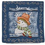 Filled Cushion - Gorgeous Tappestry Style Snowman Design 18