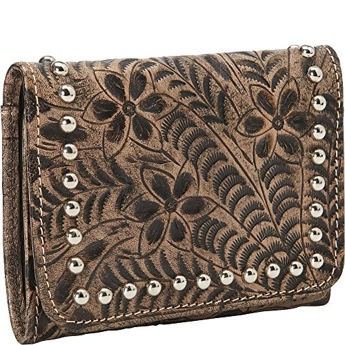 american-west-shane-ladies-tri-fold-fr-wallet-distressed-charcoal-brown-one-size