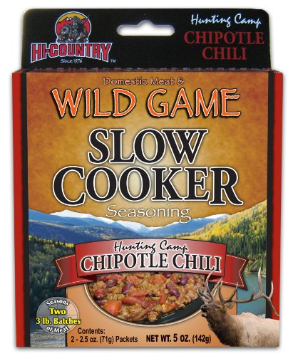 Hi-Country Snack Foods Domestic Meat and WILD GAME 5 oz. Chili Slow-Cooker Seasoning Mix (2/2.5 oz. packs)