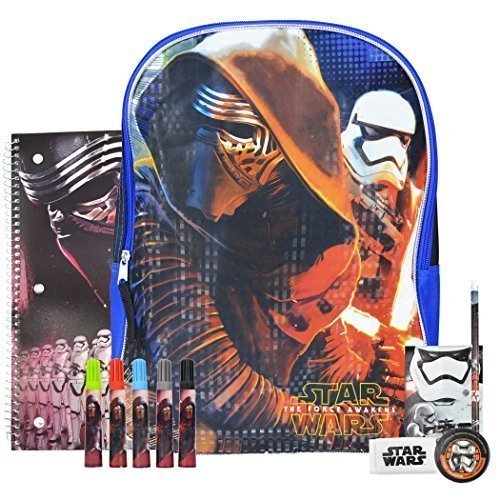 Star Wars The Force Awakens Backpack and School Supplies Episode 7 (Rain Flies For Backpacks compare prices)
