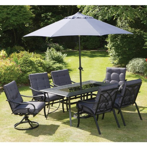 New Elegant Garden Furniture Hartford 6 Seater Set