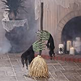 Dancing Broom with Witch Hands - Halloween Decoration