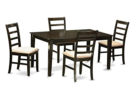 East West Furniture CAPF5-CAP-C 5-Piece Dining Table Set