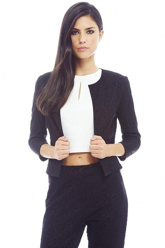 AX Paris Women's Bonded Self Colored Jacket