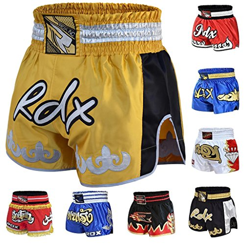 RDX-Pro-Muay-Thai-Fight-Shorts-MMA-Grappling-Kick-Boxing-Trunks-Martial-Arts