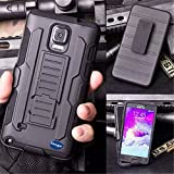 (Surprised) Samsung Galaxy Note 4 Removable Belt Clip Black Advanced Armor Hard Hybrid Case Cover Military Stand Holster Combo Case for Samsung Galaxy Note 4 N9100 Bullet Charcoal Samsung Galaxy Note 4 Case - Three Month Warranty - Slim Armor 3 Layer Protective Fitted Cover Case for Galaxy Note 4 Shockproof Hybrid Rugged Samsung Galaxy Note4 Case Rubber Three Layer Holster Cover Case for Samsung Galaxy Note 4 with Built-in Kickstand and Belt Swivel Clip and Screen Protector (Galaxy Note 4)