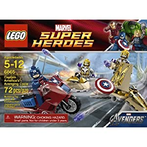Includes 3 Minifigures: Captain America, General, And Foot Soldier - LEGO Captain Americas Avenging Cycle 6865