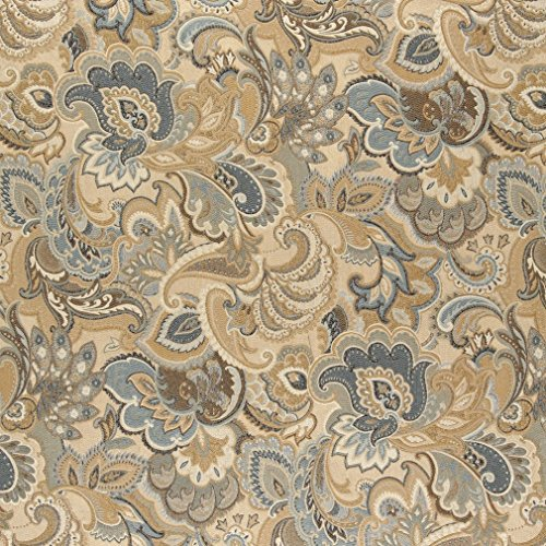 A0025A Gold Blue And Green Abstract Paisley Upholstery Fabric By The Yard (Buy Upholstery Fabric compare prices)