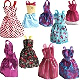 Picture Of Rainbow Handmade Dresses for Barbie Doll, Pack of 9