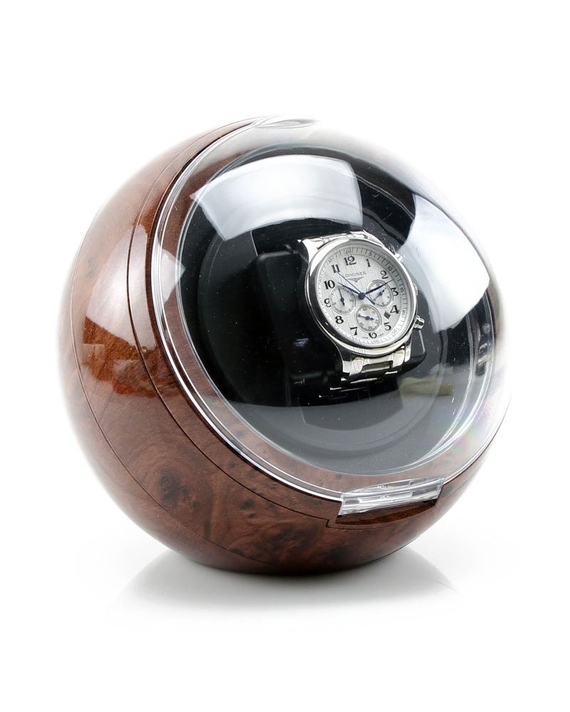 Versa Automatic Single Watch Winder in Burlwood