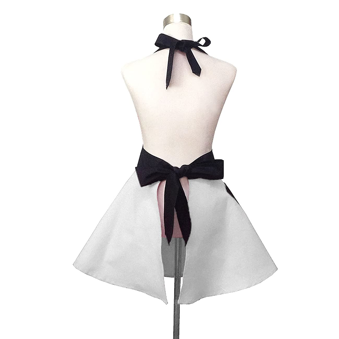 Lovely Hello Kitty White Retro Kitchen Aprons for Woman Girl Cotton Cooking Salon Pinafore Vintage Apron Dress 1